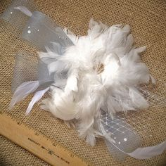 Something Blue Belle of the Ball Fascinator by LoveSherman on Etsy