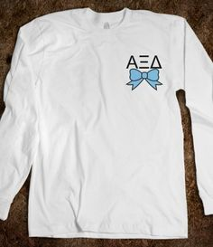 Alpha Xi Delta - Long Sleeve - Bow
