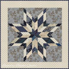 Shining Star Pattern using Snowbird Collection from Laundry Basket Quilts for Moda