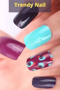 Find unique trendy nail art ideas here. #trendynails #trendynailsacrylic