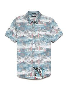 Surf Print Cotton Shirt | 21 MEN #SummerForever #21Men