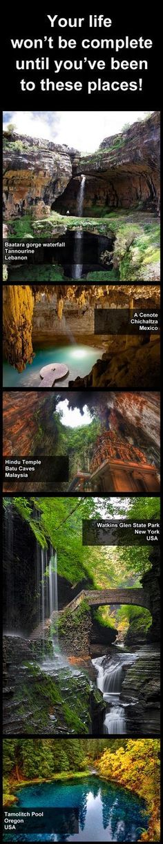 Some of the worlds most beautiful places auf B-Landau. Won't die 'til I've been there. Places Around The World, The Places Youll Go, Travel Around The World, Cool Places To Visit, Places To Travel, World Most Beautiful Place, World's Most Beautiful, Beautiful Places, Future Travel