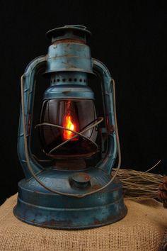 Upcycled Vintage Kerosene Lamp