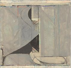 """Ocean Park #135"" (1985) is oil, crayon and ink on canvas....Diebenkorn."