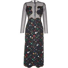 Sandra Mansour Metis Embroidered Brocade Dress ($2,105) ❤ liked on Polyvore featuring dresses, black, embroidered dress, cut out dresses, broderie dress, cut out cocktail dresses and brocade dress