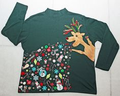 Merry Barfmas! by gemgirlart via Flickr  -- Homemade Ugly Christmas Sweater inspired by a Pinterest photo <3