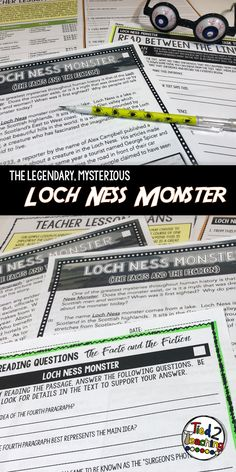This October Reading Passage on the Loch Ness Monster is such to be a hit in your class!  In addition to the Halloween reading passage, you will also receive an accompanying set of differentiated text dependent questions that will drive students back to the text to gain deeper understanding. Also, one week of rigorous close reading activities, suggested pacing and lesson plans, teacher notes, and more!