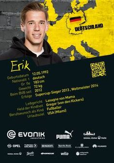 Erik Durm, Verteidiger von Borussia Dortmund zur Saison 2014/2015