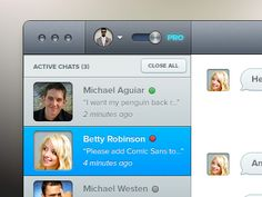 Clean chat layout design found on Dribbble.