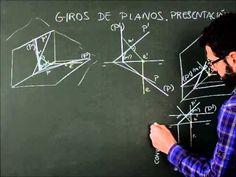 Sistema diédrico  Giros, presentación de giros de planos