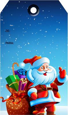 Tags de Natal Papai Noel 3