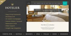 Hotelier - Hotel & Travel Booking WordPress Themes by Theme-Squared Hotelier is a thoroughly modern and stylish theme that has its roots as a hotel-related theme, but is flexible enough to be used f