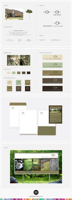 Branding - AH Design Studio, Identidade Visual para o Hotel e Centro de Treinamento Cesar Guinle