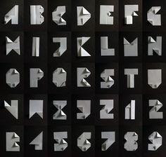 Folded Font 800pxl a Typographie en A4 !