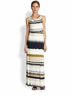 ABS Striped Maxi Dress