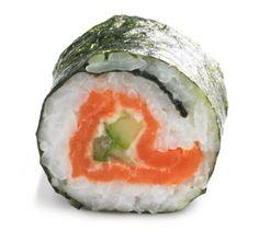 sushi maken met zalm en roomkaas Sushi Recipes, Cooking Recipes, Healthy Recipes, Diy Sushi, Sushi Sushi, Kinds Of Sushi, Sushi Bowl, Food Vans, Sashimi