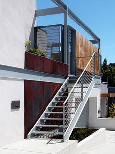 Before after this staircase leading to the second for Modern house exterior stairs