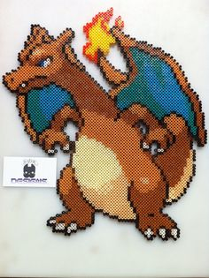 Large Charizard Pokemon Bead Sprite Wall Art by SDKD on Etsy, $44.00