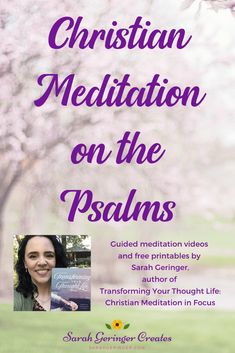 The book of Psalms is like a prayer prompt manual. Join me as we meditate on a single verse of every Psalm and grow closer to God. Free videos and printables! Meditation Videos, Meditation For Beginners, Guided Meditation, Women Of Faith, Faith In God, Christian Living, Christian Faith, Scriptures, Bible Verses