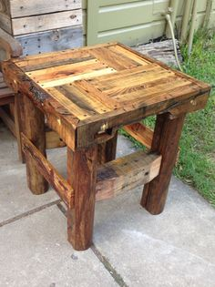 pallet and scrap wood end table