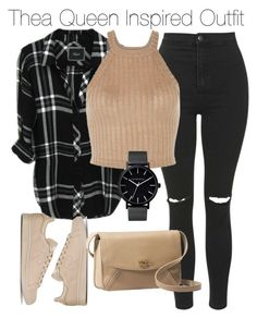 """""""Thea Queen Inspired Outfit"""" by staystronng ❤ liked on Polyvore featuring mode, Topshop, adidas, The Horse, UGG Australia, Arrow, autumn et theaqueen"""