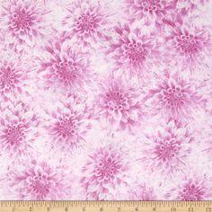 Shades of Dahlias Floral Texture Light Magenta from @fabricdotcom  Designed by…