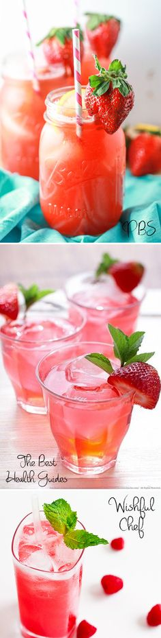 Pink + Red Summer Drink Recipes - Non-Alcoholic, or choose your booze!