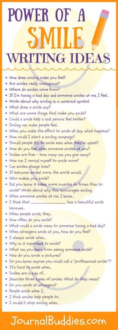 Check out these 53 journal prompts that get students thinking about the power of a smile and what those smiles mean for the world.