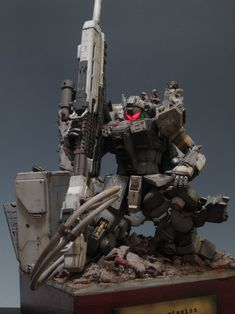 Imagine when you have a cool diorama placed in your house, I think this stuff called Hiding Mission Diorama by will be one of . Gundam Toys, Gundam Art, Battle Robots, Big Battle, Gundam Custom Build, Lego Mecha, Medieval Armor, Mechanical Design, Robot Art