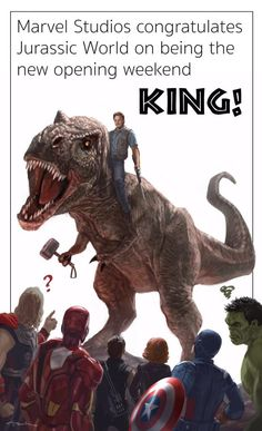 So how is Marvel Studios reacting to 'Jurassic World's beating out 'Avengers' as box office king? Just ask Kevin Feige. Earlier today, Marvel's head honcho took to Twitter to formally congratulate everyone involved.