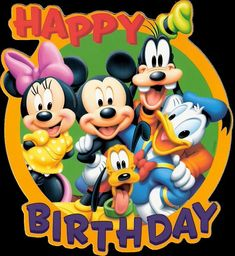 Mickey Mouse is a cartoon mouse character who usually wears the white gloves, red shorts and yellow shoes. Mickey Mouse became one of the most remarkable Disney Disney Happy Birthday Images, Happy Birthday Mickey Mouse, Birthday Wishes For Kids, Happy Birthday Wishes Cards, Happy Birthday Pictures, Birthday Fun, Birthday Signs, Disney Birthday Quotes, Birthday Cake