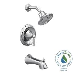 moen single lever shower faucet. MOEN Wynford Single Handle 1 Spray Posi Temp Tub and Shower Faucet Trim Shop Moen Oxby Spot Resist Brushed Nickel Bathtub