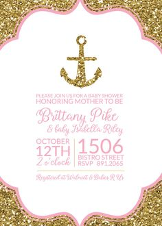 this baby shower invitation was created with an nautical theme in mind this is a