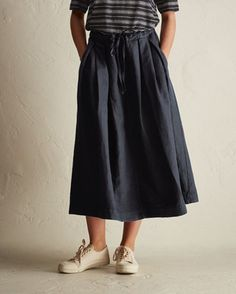 Cotton/Linen Twill Skirt