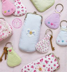 Charming Fabric Key Rings~These would make Perfect Little Gifts.