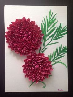 The perfect diy pumpkin seed flower decoration – Artofit Diy Crafts Hacks, Crafts To Do, Hobbies And Crafts, Paper Crafts, Art N Craft, Diy Art, Pista Shell Crafts, Seed Craft, Plastic Spoon Crafts