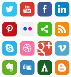 Social Media Icon, plantatercera, redes sociales, iconos