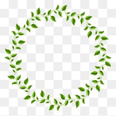 Green Leaf Garland, Hojas Verdes, Corona, Verde PNG y Vector Circle Borders, Borders And Frames, Flower Circle, Flower Frame, Photo Rose, Framed Leaves, Blank Sign, Christmas Border, Leaves Vector