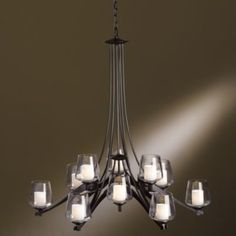 Ribbon Chandelier with Clear Glass by Hubbardton Forge, 5-light $1580