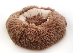 Kitten Crumple Bed Coral Fleece Coral Bedding, Fluffy Kittens, Donuts, Bean Bag Chair, Handmade, Home Decor, Frost Donuts, Hand Made, Decoration Home