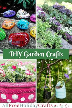34 Garden Crafts: DIY Planters, Flower Pot Crafts, and more DIY Garden Ideas