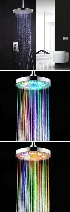 Bathroom products:Sprinkler Cleansing Filter Sprayer Colors Changing LED Shower Head