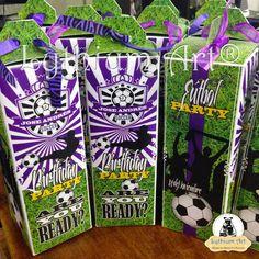 Cajas para Cotillones Infantiles Personalizados (Fútbol) | Lythium Art® Design by: Yil Siritt