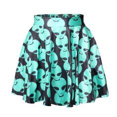 East Knitting New 2016 Hot summer skirts womens pleated skirts flowers blue Alien printed womens Skirt Saia - Woman Dress Flared Mini Skirt, Mini Skirts, Pleated Skirts, Women's Skirts, Short Skirts, Slider Buns, Black Eyed Peas, Dressing, Kids Fashion