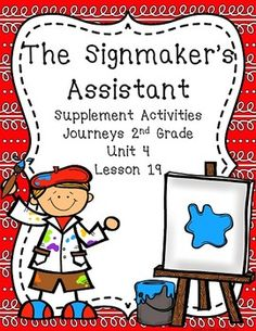 The Signmaker's Assistant Journeys 2nd Grade Unit 4 Lesson 19 More 2nd Grade at: www.TutorFrog.com