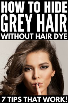 grey hair remedies Your hair can become grey because of several reasons. Here are the top 15 natural home remedies for grey hair treatment with images which are definitely help to you. Prom Makeup Looks, Fall Makeup Looks, Hair A, Your Hair, Grey Hair Remedies, Red Lipstick Looks, Long Layered Haircuts, Hot Hair Styles, Stunning Makeup