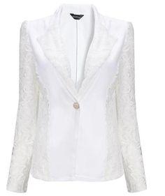 2016 Spring Lace Sexy Women Blazers And Jackets Slim Long Sleeve Blazer Feminino Single Breasted Chaquetas Mujer Work Wear Hi-Q