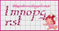 Monograma baby moranguinho by Dinha ponto cruz