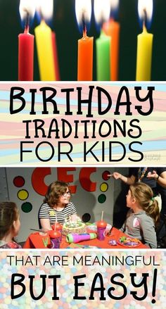 Want your kids to have special memories but have limited time for elaborate planning? These Birthday traditions for kids are meaningful but EASY to do! Birthday Surprise For Husband, Birthday Morning Surprise, Sons Birthday, Happy Birthday Wishes, Birthday Fun, Birthday Party Themes, Birthday Ideas, Birthday Surprises, Birthday Quotes