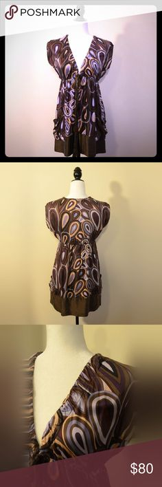 Hale Bob Silk Boho Dress Trendy and chic 100% silk Hale Bob dress. Perfect for your next festival outing. Hale Bob Dresses